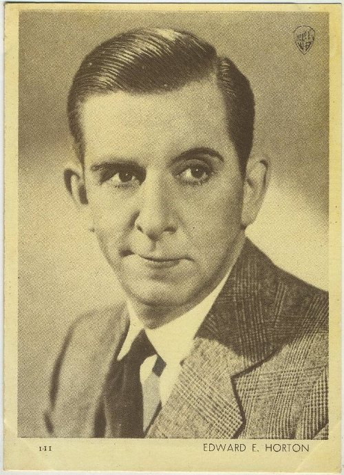 Edward Everett Horton 1930s Aguila Chocolates