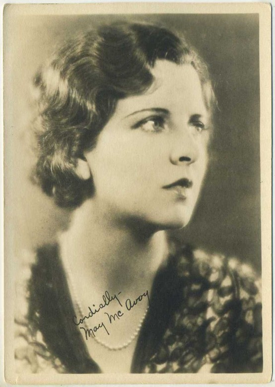 May McAvoy 1920s Fan Photo