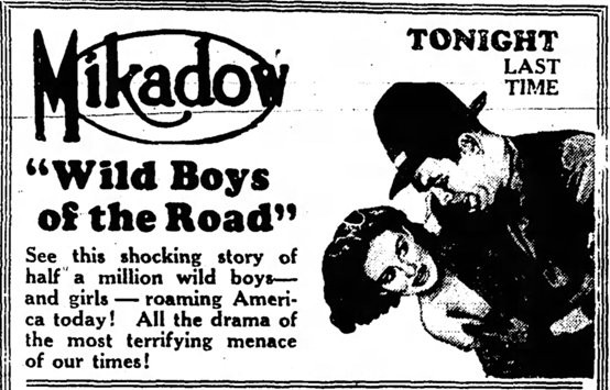 Wild Boys of the Road 1933 advertisement