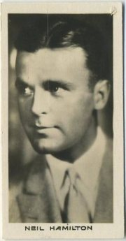 Neil Hamilton 1929 Godfrey Phillips Cinema Stars
