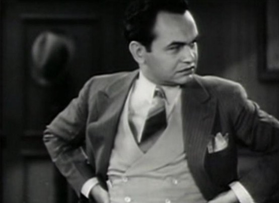Edward G Robinson in The Widow from Chicago