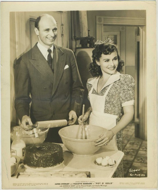 James Roosevelt and Paulette Goddard