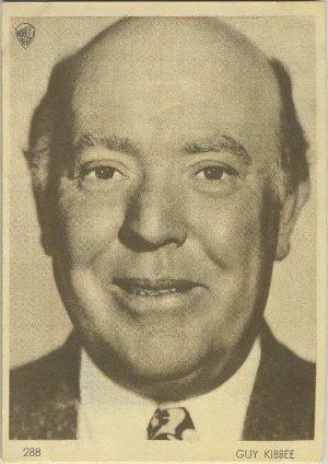 Guy Kibbee 1930s Aguila Trading Card
