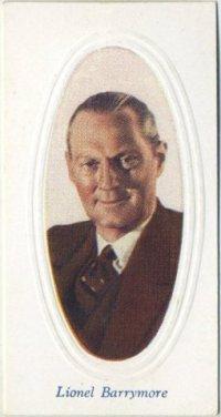 Lionel Barrymore 1936 Godfrey Phillips Screen Stars