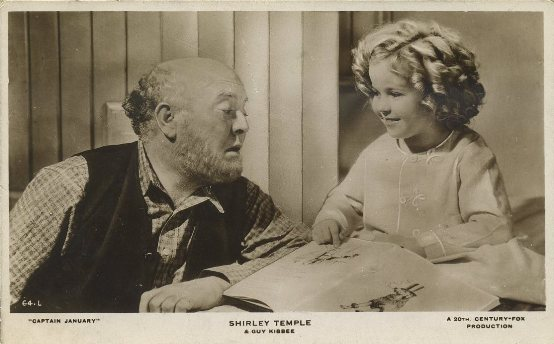 Guy Kibbee and Shirley Temple RPPC