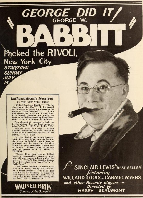 Willard Louis as Babbitt 1924