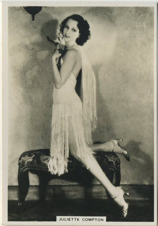 Juliette Compton 1930s BAT Modern Beauties tobacco card