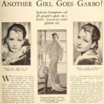 Clipping: Juliette Compton's Garbo Style in The Vice Squad