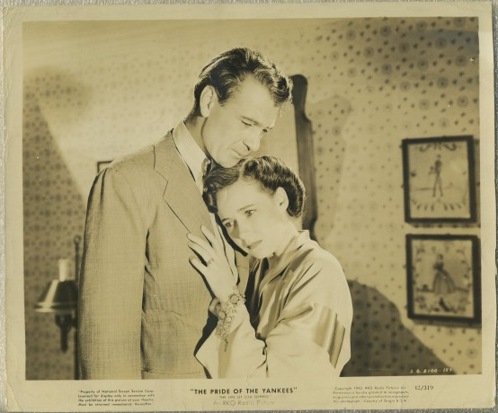 Gary Cooper and Teresa Wright in The Pride of the Yankees