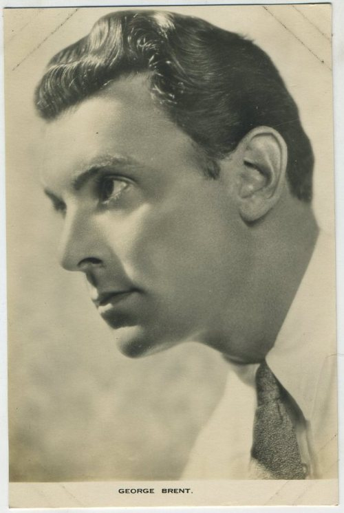 George Brent 1930s Film Weekly Postcard