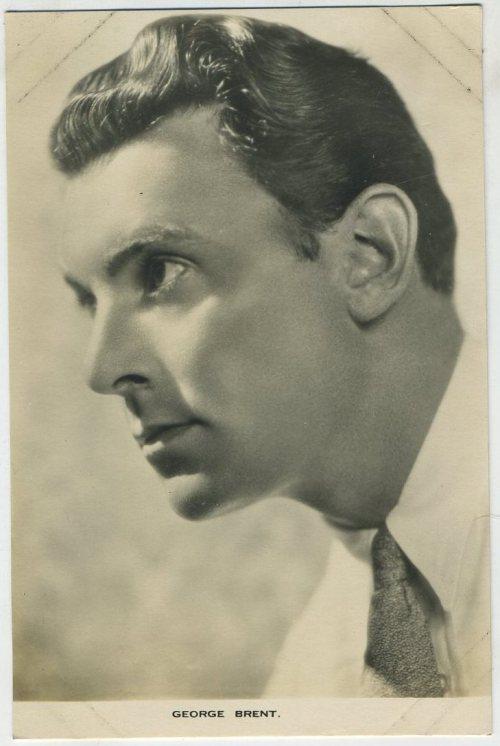 George Brent 1930s Film Weekly Postcard