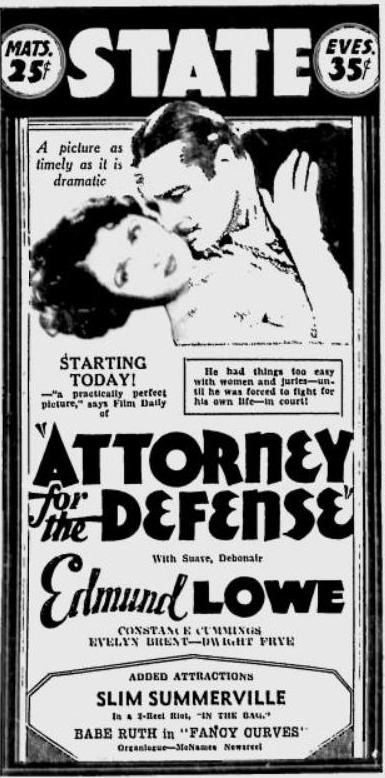 Above: Ad clipped from the Spokane Daily Chronicle, 21 May 1932.