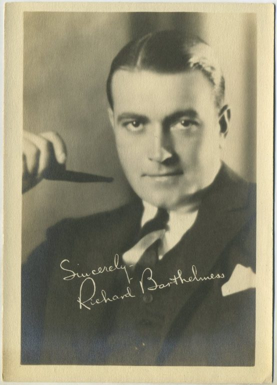 Richard Barthelmess 1920s Movie Star Fan Photo