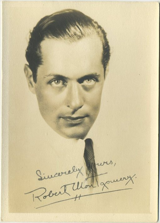 Robert Montgomery 1930s Fan Photo