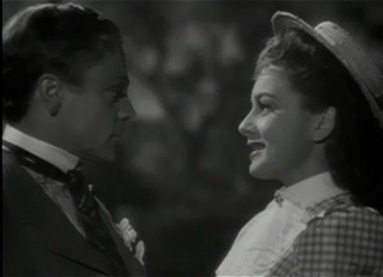 James Cagney and Olivia de Havilland