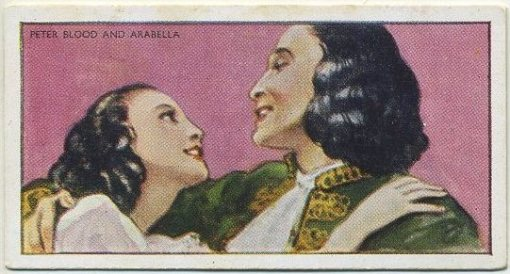 Captain Blood tobacco card