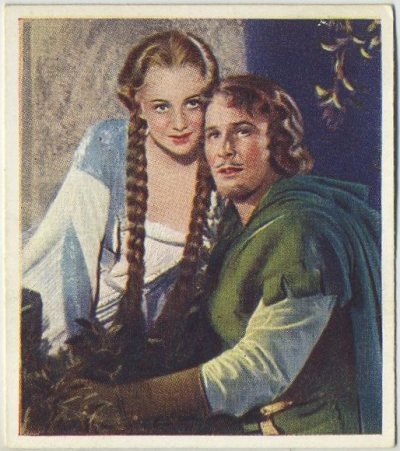 Olivia de Havilland and Errol Flynn 1939 Godfrey Phillips Famous Love Scenes