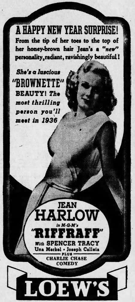 Riffraff 1936 newspaper ad
