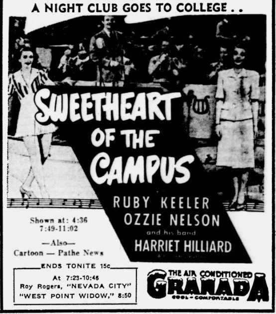 Sweetheart of the Campus 1941 newspaper ad