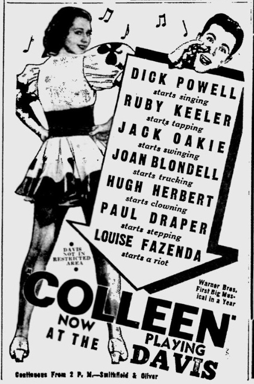 Colleen 1936 newspaper ad