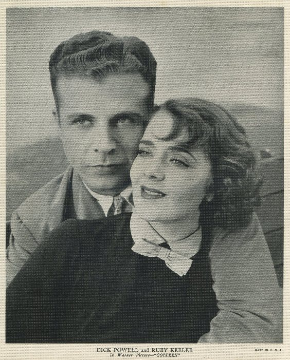 Ruby Keeler and Dick Powell 1936 EMO Movie Club premium photo