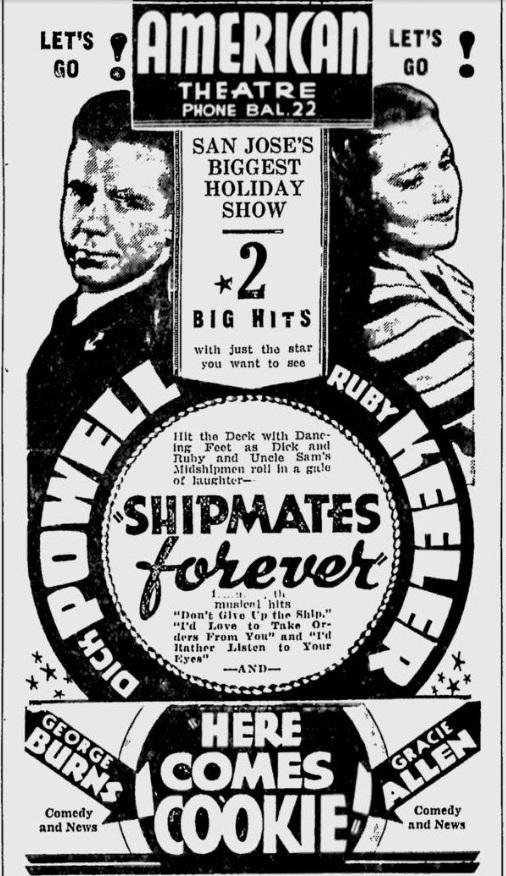 Shipmates Forever 1935 newspaper ad