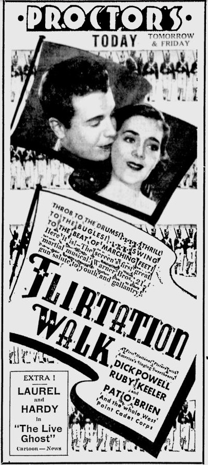 Flirtation Walk 1935 newspaper ad