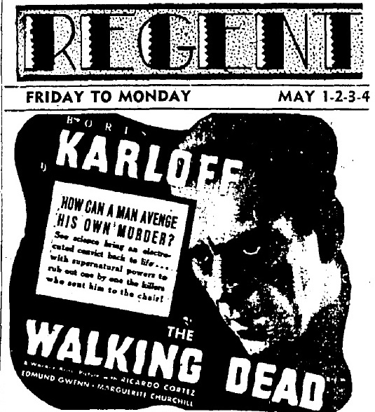 The Walking Dead 1936 newspaper ad