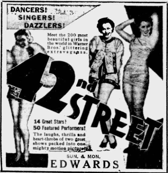 42nd Street 1933 newspaper ad