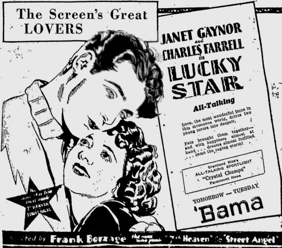 Lucky Star 1930 newspaper ad