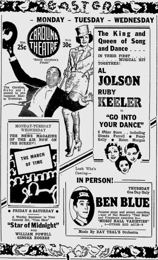 Go Into Your Dance 1935 newspaper ad