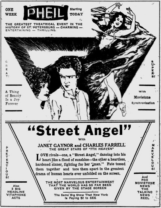 Street Angel 1928 newspaper ad