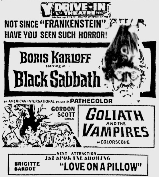 Black Sabbath 1964 newspaper ad