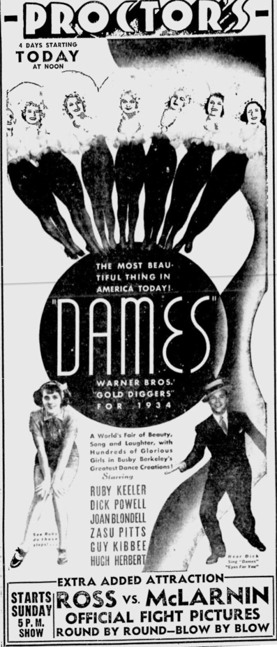 Dames 1934 newspaper ad