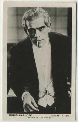 Boris Karloff Populares Card