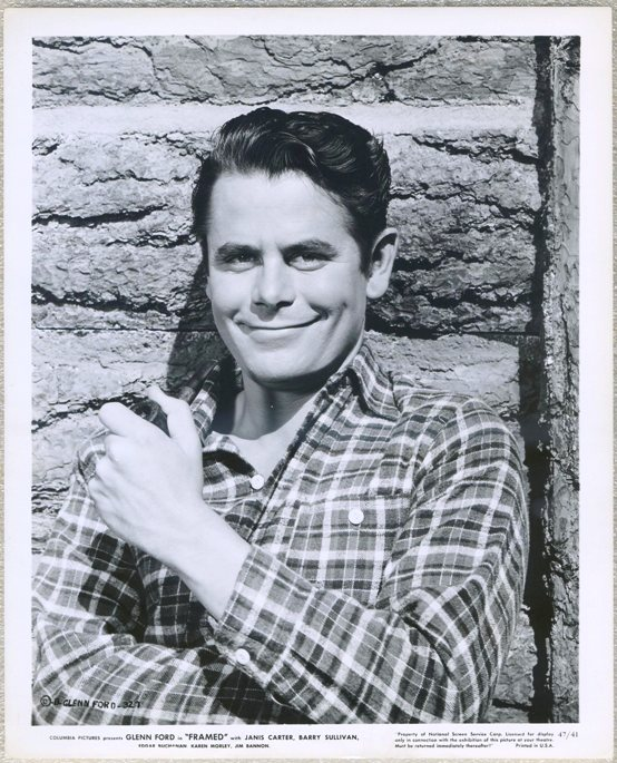 Glenn Ford 1947 Promotional Still Photo