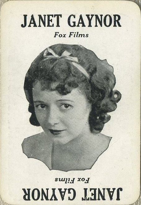 Janet Gaynor 1929 Movie Land Keeno Game Card