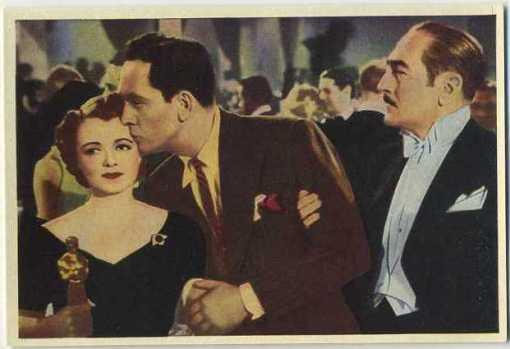 Janet Gaynor Fredric March and Adolphe Menjou 1940 Max Cinema Cavalcade