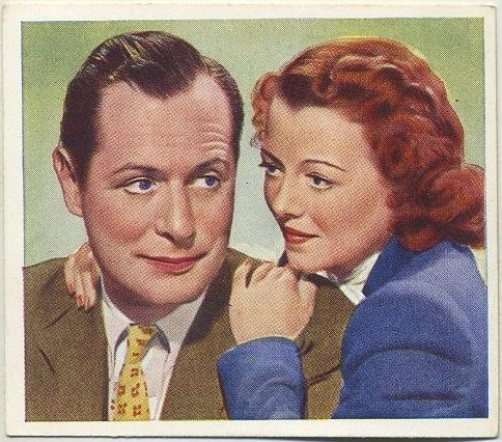 Robert Montgomery and Janet Gaynor 1939 Godfrey Phillips