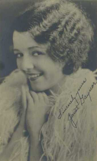 Janet Gaynor 1920s Fan Photo
