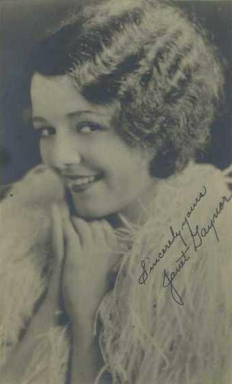 Janet Gaynor 1920s Fan Photo