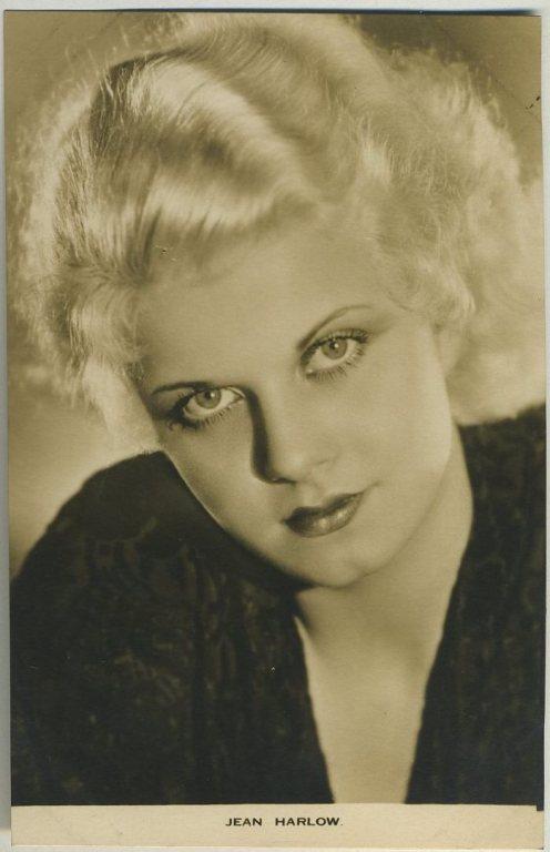 Jean Harlow 1930s Film Weekly Postcard