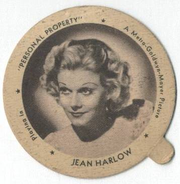 Jean Harlow Dixie Cup Lid