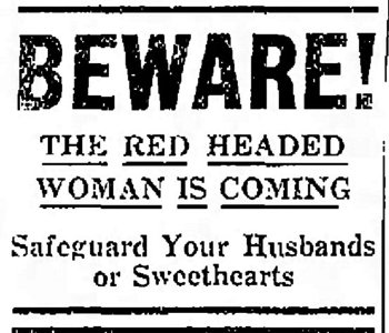 Red Headed Woman 1932 newspaper ad