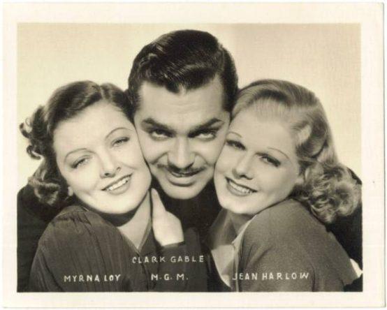 Myrna Loy, Clark Gable, and Jean Harlow