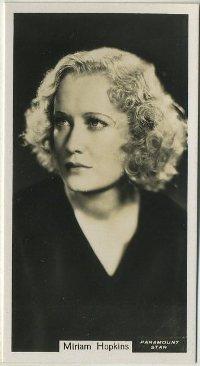 Miriam Hopkins 1934 John Sinclair Film Stars