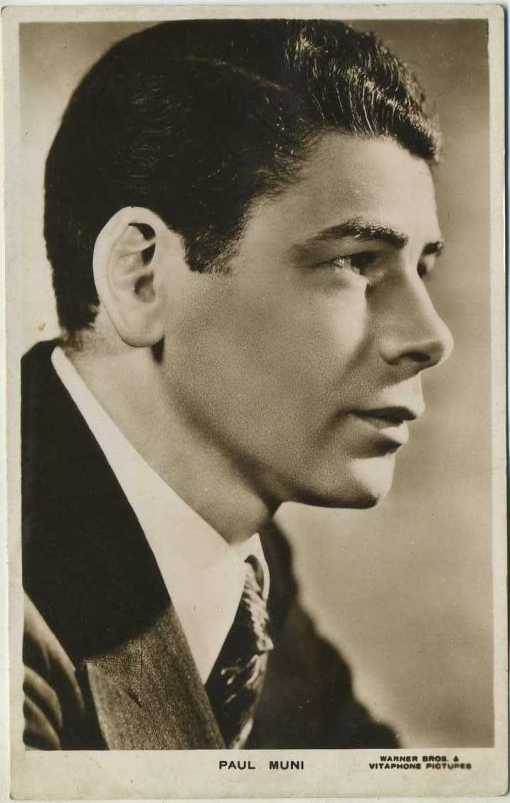 Paul Muni 1930s postcard