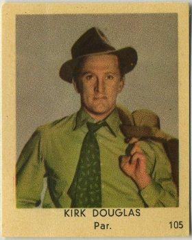 Kirk Douglas 1954 Klene Trading Card