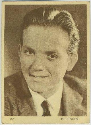 Eric Linden 1930s Aguila Chocolates Trading Card