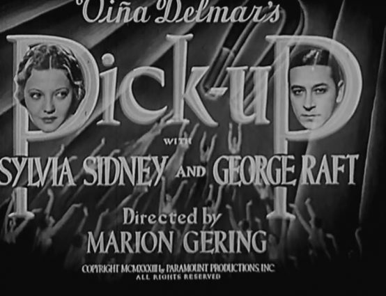 Pick Up 1933 Sylvia Sidney